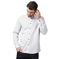 The Collection - Big and tall white printed shirt