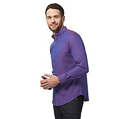 The Collection - Big and tall purple dobby tonic tailored fit shirt