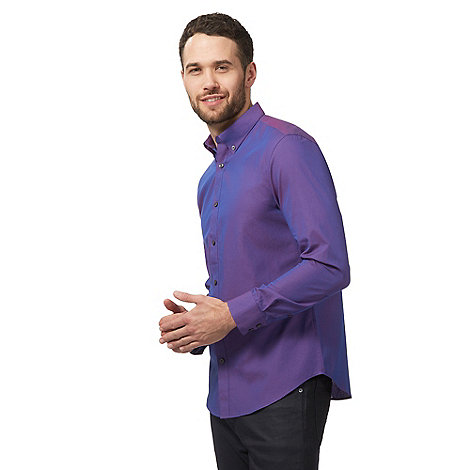 The Collection - Purple dobby tonic tailored fit shirt