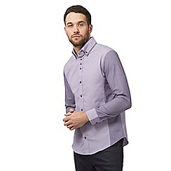 The Collection - Big and tall purple dobby tailored fit shirt