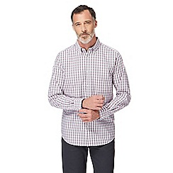 The Collection - Big and tall pink and grey gingham print shirt