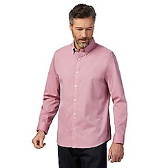 The Collection - Big and tall pink textured regular fit shirt