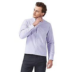 The Collection - Big and tall lilac textured regular fit shirt