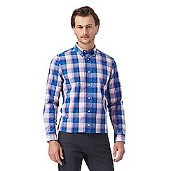 The Collection - Big and tall pink checked print regular fit shirt