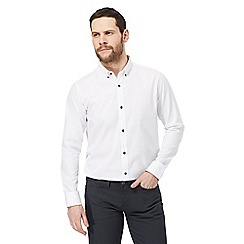 The Collection - White jacquard tailored fit shirt