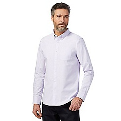 The Collection - Big and tall lilac tailored fit shirt