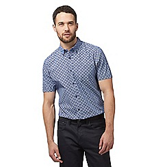 The Collection - Big and tall blue diamond print regular fit shirt