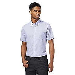 The Collection - Big and tall purple textured regular fit shirt