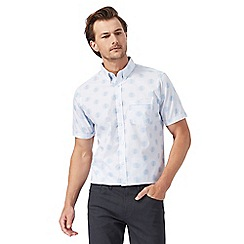 The Collection - Big and tall white spot print regular fit shirt