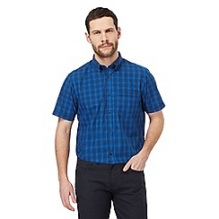 The Collection - Big and tall dark blue checked print regular fit shirt