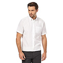 The Collection - White striped textured regular fit shirt