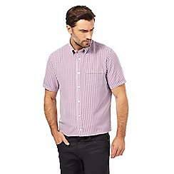 The Collection - Pink gingham print classic fit shirt