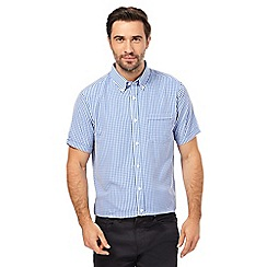 The Collection - Big and tall blue gingham print classic fit