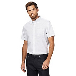 The Collection - White short sleeve triangle print shirt