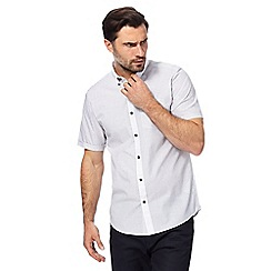 The Collection - White checked print regular fit shirt