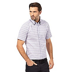 The Collection - Big and tall purple grid checked tailored fit shirt