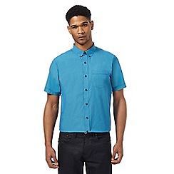 The Collection - Blue short sleeve tailored fit shirt