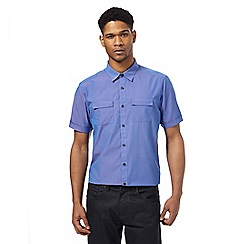 The Collection - Big and tall purple short sleeve tailored fit shirt