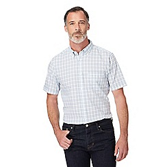 The Collection - Big and tall blue checked regular fit shirt