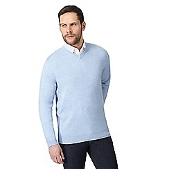The Collection - Big and tall light blue v neck jumper