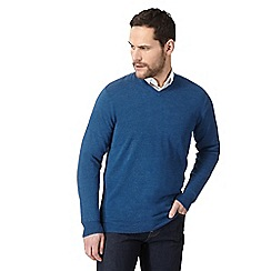 The Collection - Blue V neck jumper