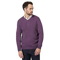 The Collection - Big and tall purple v neck jumper