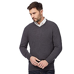 The Collection - Grey V neck jumper