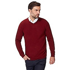 The Collection - Red V neck jumper