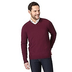 The Collection - Dark purple V neck jumper