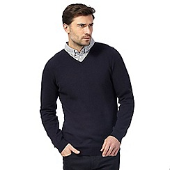 The Collection - Navy mock double neck jumper