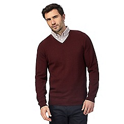 The Collection - Big and tall red mock double neck jumper