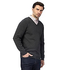 The Collection - Big and tall grey mock double neck jumper