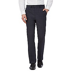 The Collection - Big and tall navy checked trousers