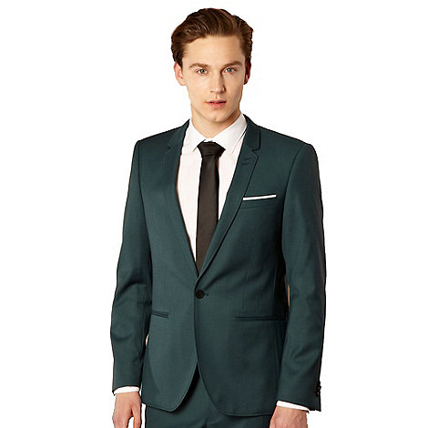Thomas Nash - Turquoise slim lapel suit jacket