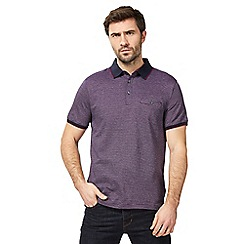 The Collection - Big and tall purple striped polo shirt