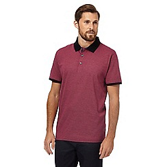 The Collection - Red pindot polo shirt