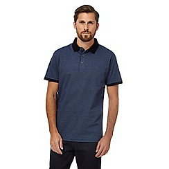 The Collection - Dark blue pin dot polo shirt