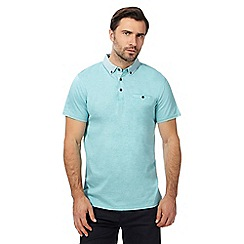 The Collection - Aqua textured polo shirt