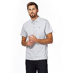 The Collection - Big and tall grey textured polo shirt