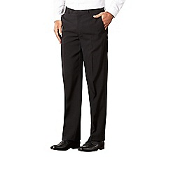 Thomas Nash - Black easy care flat front trousers
