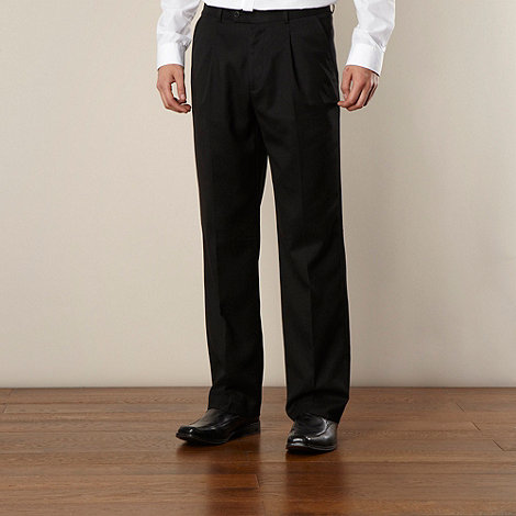 Thomas Nash - Black ultimate single-pleat front trouser