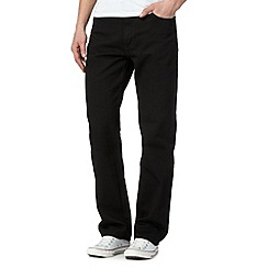 Lee - Brooklyn black straight leg jeans