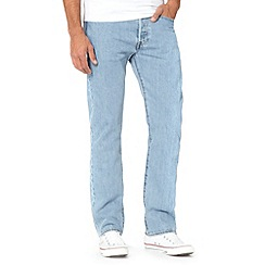 Levi's - Big and tall 501® broken in light blue straight leg jeans