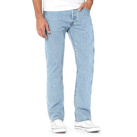 Levi+s - 501® broken in light blue straight leg jeans