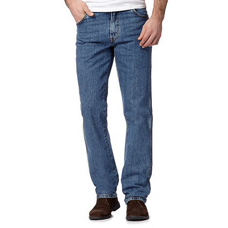 Wrangler - Texas vintage stonewash light blue regular fit jeans