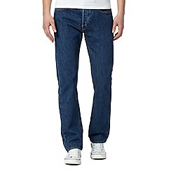 Levi's - Big and tall 501® stonewash blue straight leg jeans