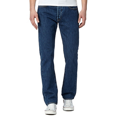 Levi+s - 501® stonewash blue straight leg jeans