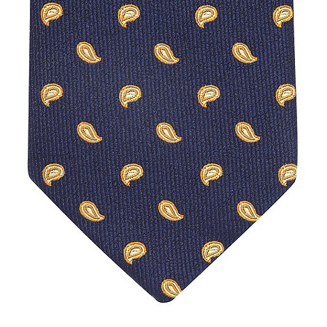 Thomas Nash - Gold textured paisley tie