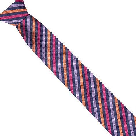 Thomas Nash - Navy woven checked tie