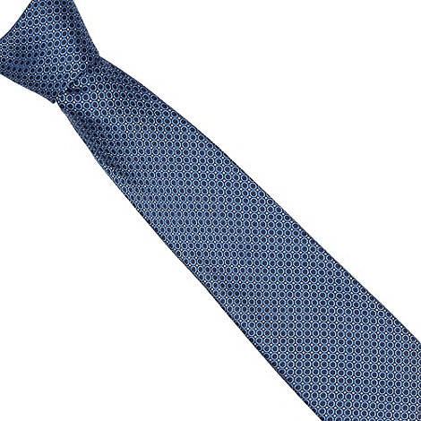 Thomas Nash - Dark blue mini circles tie